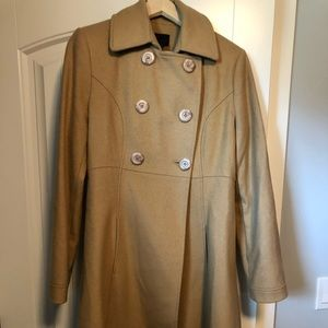 Camel size 10 Via Spiga long coat.